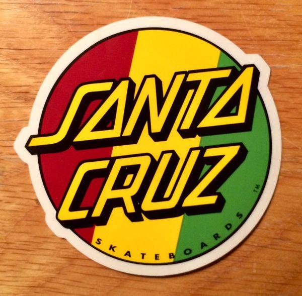 "Santa Cruz Rasta Dot 3"" Sticker"