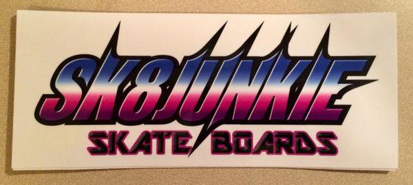 Gradient Sk8junkie Sticker 4x9.5