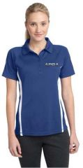 Ladies Micro-Mesh Colorblock Polo-embroidered (chrome logo)