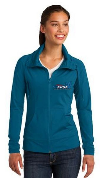 Stretch Full-Zip Jacket-embroidered