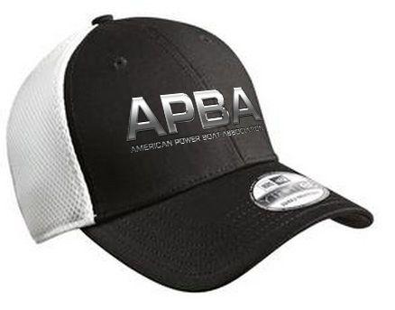 APBA New Era® - Stretch Mesh Hat-embroidered (chrome logo)