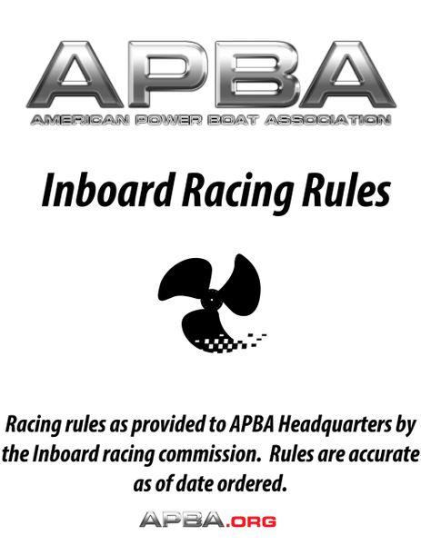 Inboard Racing Rules