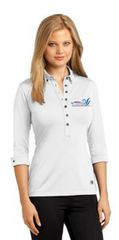 Ladies Gauge Polo-embroidered