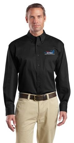 Long Sleeve SuperPro Twill Shirt-embroidered