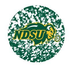 NDSU Primary Confetti 2 Round Pendant