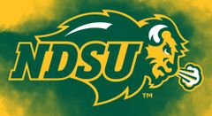 NDSU Primary Logo on Clouds background 1 Business Card Holder