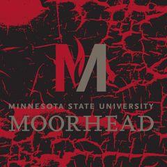 "MSUM 'M' Logo on cracked background 2 4"" square Sandstone Coaster"