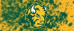 NDSU Head Logo on Confetti 5 Rectangle Ring Stand™ Phone Holder