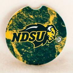 NDSU Primary Logo Stones 1 Sandstone Car Coaster