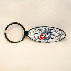 MSUM Grey Dragon Cracks 1 Oval Bottle Opener Keychain