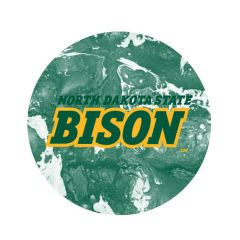 NDSU Bison Concrete 2 Pewter Key Chain or Money Clip