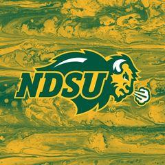 NDSU Primary Logo Concrete 1 Square Sandstone Coaster
