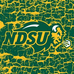 "NDSU Primary Logo Cracks 2 4.25"" Ceramic Tile"