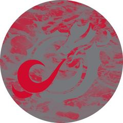 MSUM Grey Dragon Water 1 on Red Sandstone Car Coaster