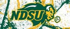 NDSU Primary Logo on Cracks 1-4 Rectangle Ring Stand™ Phone Holder