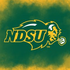 "4"" Square NDSU Primary Logo Clouds 2 Sandstone Coaster"