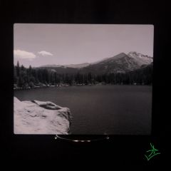 "8"" X 10"" Black & White Bear Lake Out Rock Aluminum Print"