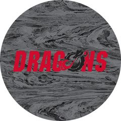 Dragons in Red Black Dragon Concrete 1 on Grey Sandstone Car Coaster