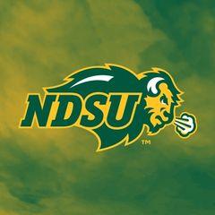NDSU Primary Logo Fog 3 Square Sandstone Coaster