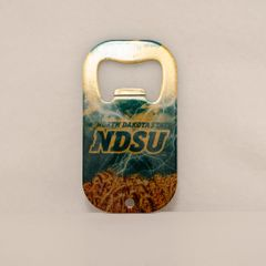 NDSU Clouds Lightning and Wheat Credit Card Style Steel Bottle Opener