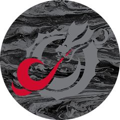 MSUM Grey Dragon Concrete 1 on Black Sandstone Car Coaster