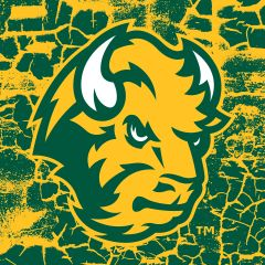 "NDSU Head Logo Cracks 1 4.25"" Ceramic Tile"