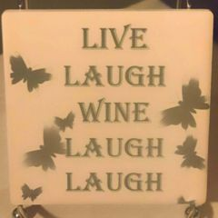 Live Laugh Wine Laugh Laugh Sandstone Coaster