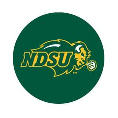 NDSU Primary on Green Round Pendant