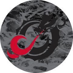 MSUM Black Dragon Water 1 on Black Sandstone Car Coaster