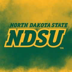 "4"" Square North Dakota State NDSU Logo Clouds 1 Sandstone Coaster"