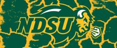 NDSU Primary Logo on Cracks 2 Rectangle Ring Stand™ Phone Holder
