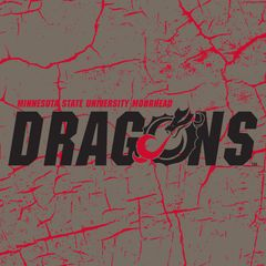 "MSUM Dragons Logo on Cracked background 3 6"" Ceramic Tile"