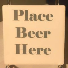 Place Beer Here Sandstone Coaster