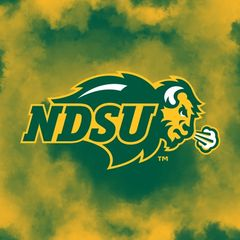 NDSU Primary Logo Clouds 1 Square Sandstone Coaster