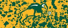 NDSU Body Logo on Confetti 3 Rectangle Ring Stand™ Phone Holder