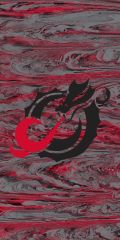 MSUM Black Dragon Concrete 1 on Red Dauphin™ Hard Rubber Case Phone Case