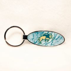 NDSU Body Marble 4 Oval Bottle Opener Keychain