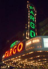 "8"" X 11"" Fargo Theater #1 Glass Cutting Board"