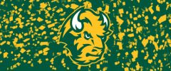 NDSU Head Logo on Confetti 2 Rectangle Ring Stand™ Phone Holder