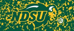 NDSU Primary Logo on Confetti 2 Rectangle Ring Stand™ Phone Holder