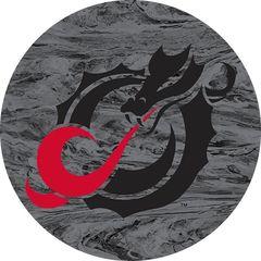 MSUM Black Dragon Concrete 1 on Grey Sandstone Car Coaster