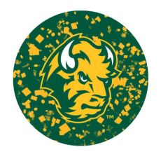 NDSU Head Confetti 1 Pewter Key Chain or Money Clip