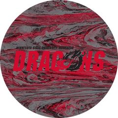MSUM Dragons in Red Black Dragon Concrete 1 on Red Sandstone Car Coaster