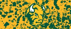 NDSU Head Logo on Confetti 3 Rectangle Ring Stand™ Phone Holder