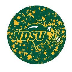 NDSU Primary Confetti 1 Round Pendant