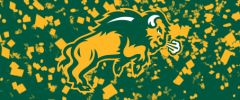 NDSU Body Logo on Confetti 1 Rectangle Ring Stand™ Phone Holder