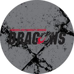MSUM Dragons in Black Cracks 2 on Grey Sandstone Car Coaster