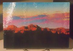 "8"" X 11"" Badlands Graphic Dreamscape 1 Glass Cutting Board"