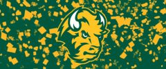 NDSU Head Logo on Confetti 1 Rectangle Ring Stand™ Phone Holder