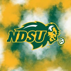 NDSU Primary Logo Clouds 2 Square Sandstone Coaster